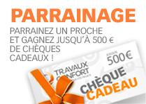 parrainagez un proche et gagnez jusqu'à 500 € de chèques cadeaux