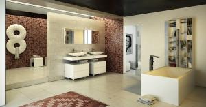 Design de salle de bain réalisé par Travaux Confort