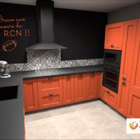 Votre cuisine aménagée sur-mesure de couleur